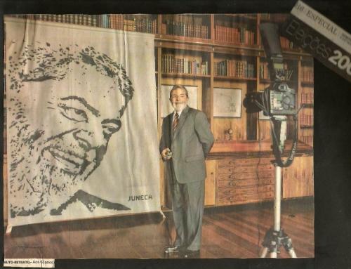 Grafite para o Presidente Lula – no Jornal